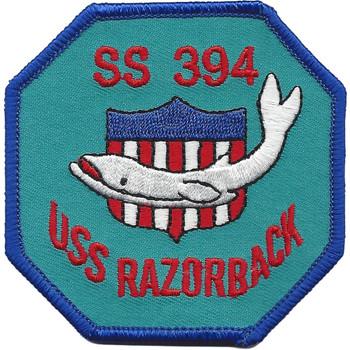 SS-394 USS Razorback Shield Small Patch