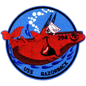 SS-394 USS Razorback Red Whale Small Patch
