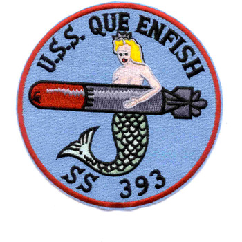 SS-393 USS Queenfish Patch - Version A