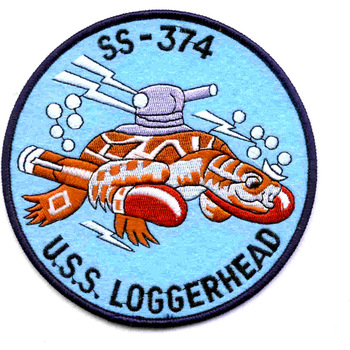 SS-374 USS Loggerhead Patch - Large