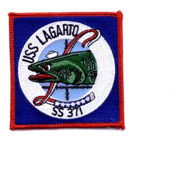 SS-371 USS Lagarto Patch - Small