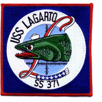 SS-371 USS Lagarto Patch - Large
