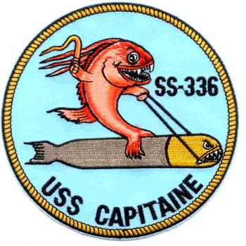 SS-336 USS Capitaine Patch - Version B