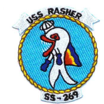 "SS-269 USS Rasher Patch - Version A ""Small"""