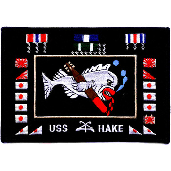 "SS-256 USS Hake Patch ""Battle Flag"""