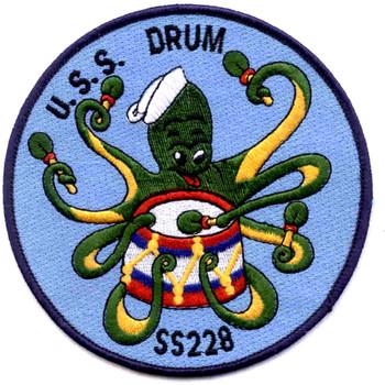 SS-228 USS Drum Submarine Patch