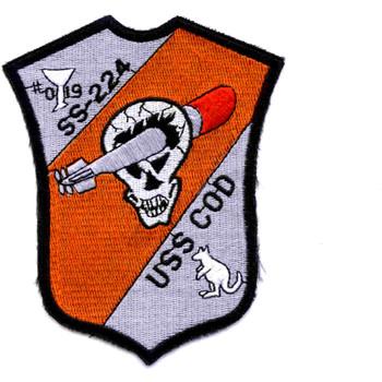 SS-224 USS Cod Submarine Patch