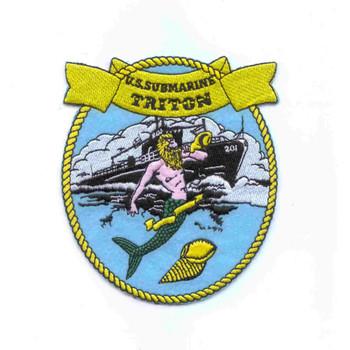SS-201 USS Triton Patch