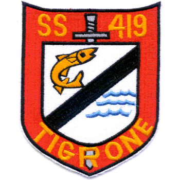 SS-419 USS Tigrone Patch - Version B