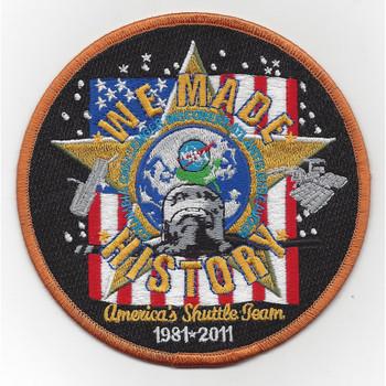 SP-315J NASA Americas Shuttle Team We Patch Large Version