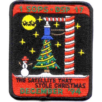 SP-247 NASA 1st Space Operations Squadron Defense Support Program 17 Patch