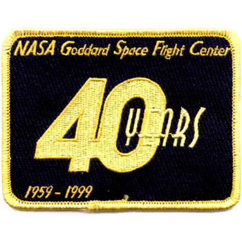 SP-214 NASA SP-214 Goddard Space Flight Center 40 Years Patch