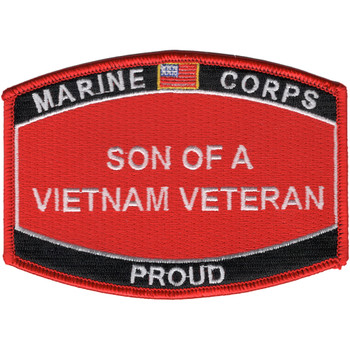 Son Of A Vietnam Veteran Patch USMC