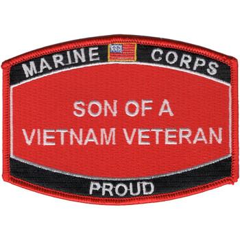 Son Of A Vietnam Veteran Patch USMC
