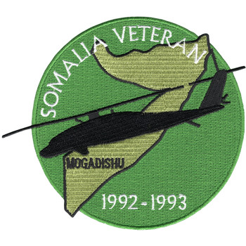 Somalia Veteran 1992-1993 Mogadishu Patch Blackhawk Down Helicopter