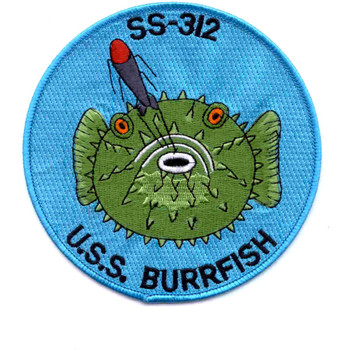 SS-312 USS Burrfish Patch - Large
