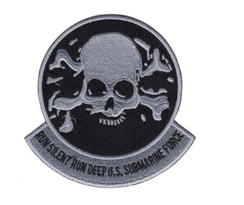 Skull and Crossbones Run Silent Run Deep Patch