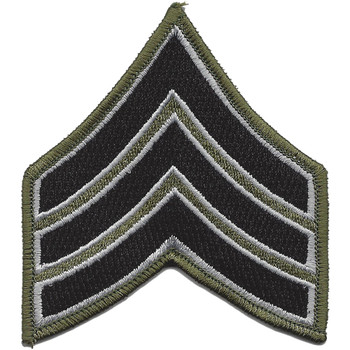 Sheriff Police Sargent Chevrons OD Black Patch