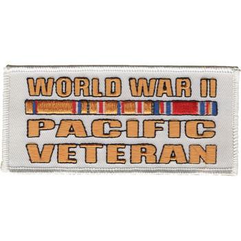 World War II Pacific Veteran Service Ribbon Patch