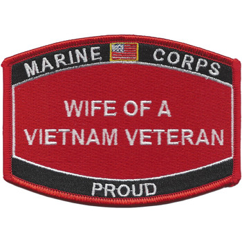 Wife Of A Vietnam Veteran Patch USMC