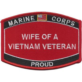 Wife Of A Vietnam Veteran Patch USMC