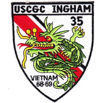 WHEC-35 Vessel High Endurance Cutter 35 Patch Vietnam 68-69