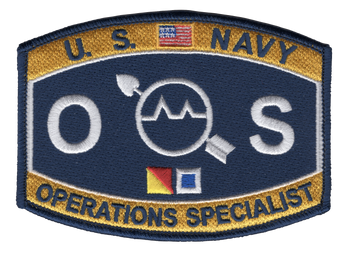 Operations Specialist Rating Hat Patch