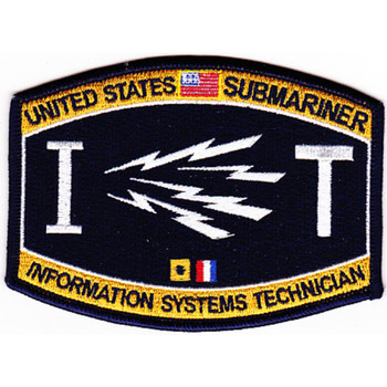Weapons Rating Submarine Information Systems Technician Patch