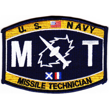 Weapons Specialist Rating Missile Technician Patch