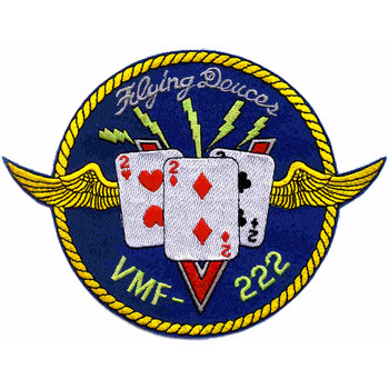 VMF-222 Fighter Squadron Patch Hook And Loop