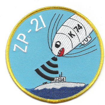 Zp-21 Blimp Squadron WWII Patch