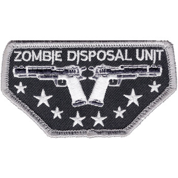 Zombie Disposal Unit Patch Hook And Loop