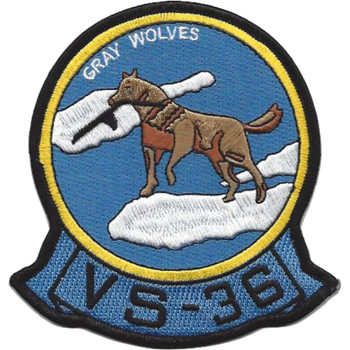 VS-36 Aviation Air Anti-Submarine Squadron Thirty Six Patch Gray Wolves