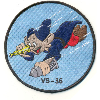 VS-36 Aviation Air Anti-Submarine Squadron Thirty Six Patch Dopey WWII