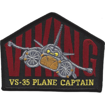 VS-35 Sea Control Squadron Plan Captain Patch