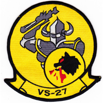 VS-27 Aviation Air Sea Control Squadron Twenty Seven Patch