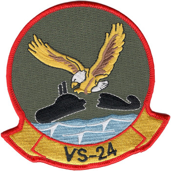 VS-24 Aviation Air Sea Control Squadron Twenty Four Patch