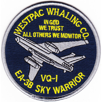 VQ-1 Patch Westpac Whaling Co. EA-3B Sky Warrior