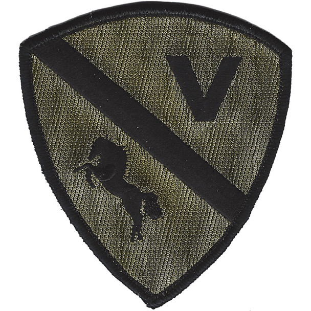 2nd U.S. Calvary Volunteers Funeral Ceremonials OD patch