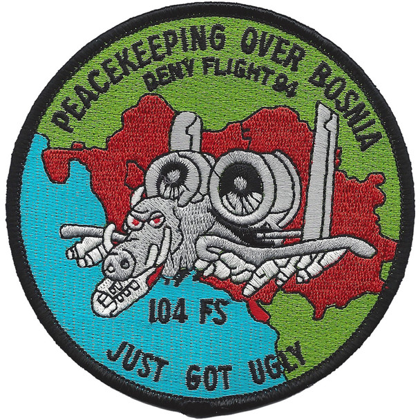 104th Fighter Squadron A-10 Patch - Just Got Ugly