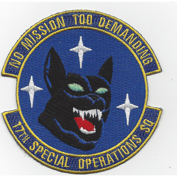17th SOS Special Operations Squadron Patch - Dog