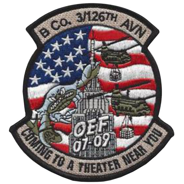 3rd Squadron 126th Aviation Regiment B Company Patch - Version A