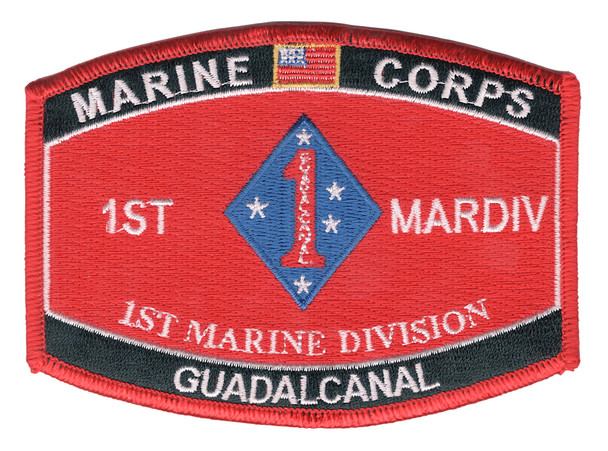 1st Marine Division Guadalcanal MOS Patch