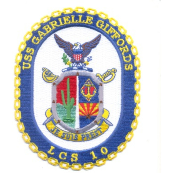 USS Gabrielle Giffords LCS 10 Littoral Combat Ship Patch