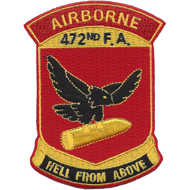 472nd Airborne Field Artillery Battalion Patch Hell From Above