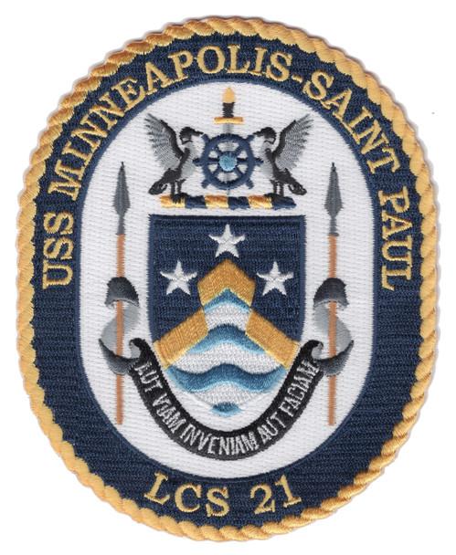 USS Minneapolis-Saint Paul LCS-21 Patch