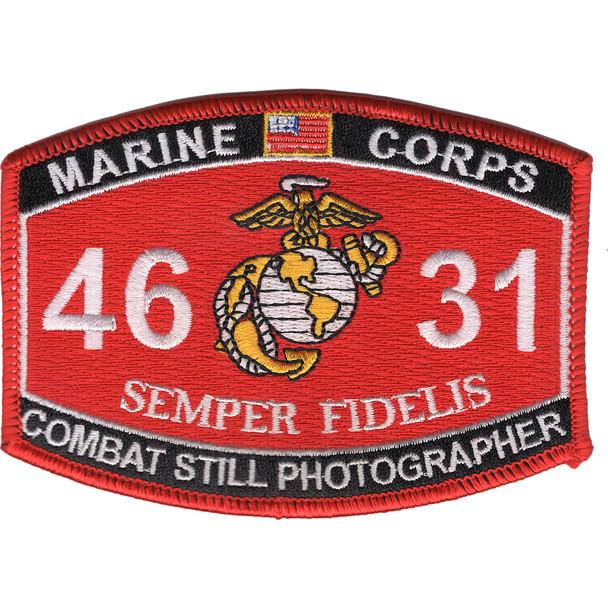 4631 Combat Still Photographer MOS Patch