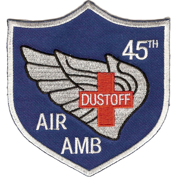 45th Aviation Medical Company Air Ambulance Dustoff Blue Shield Patch