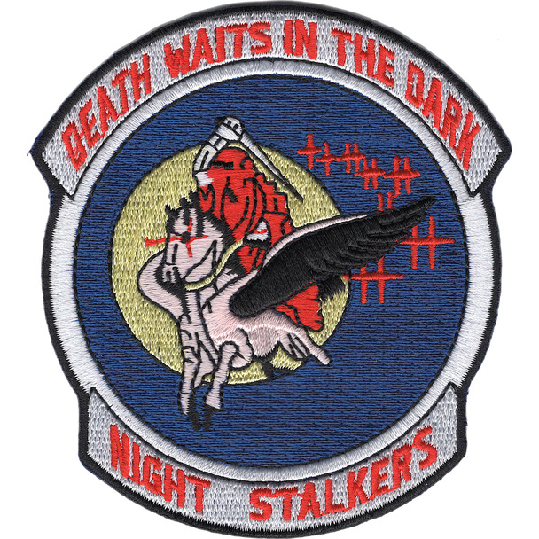 160th SOAR 101st Airborne Division Patch - Death Waits In The Dark