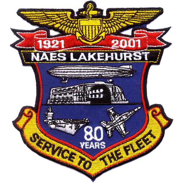 NAES Lakehurst New Jersey 80 Years Patch